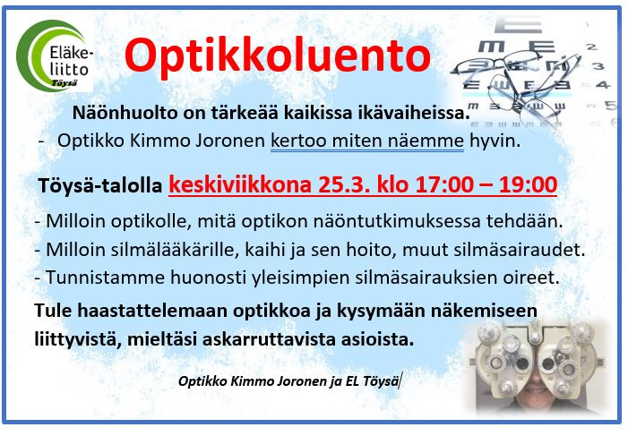 Optikkoluento ke 25.3.2020 esite